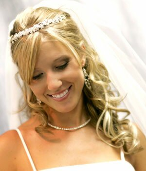 Свадебные причёски 2009