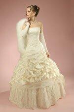 абрикосовое свадебное платье