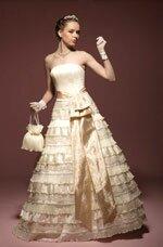 свадебное платье абрикосового цвета