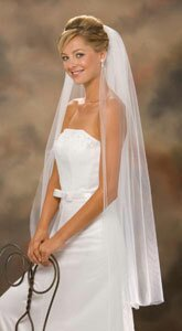 Весільна фата - одношарова, довга