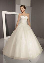 Галль платье без бретелек V-образный вырез органза Белые...